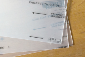 Clear engraving plastic